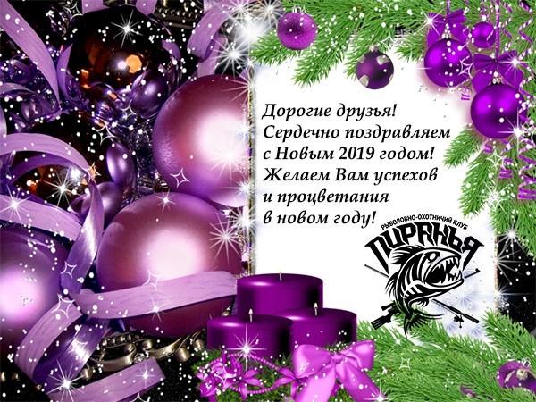 Поздравляем с Новым 2019 годом и Рождеством!
