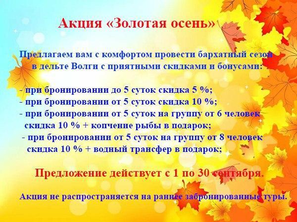 """Акция """"Золотая осень"""""""